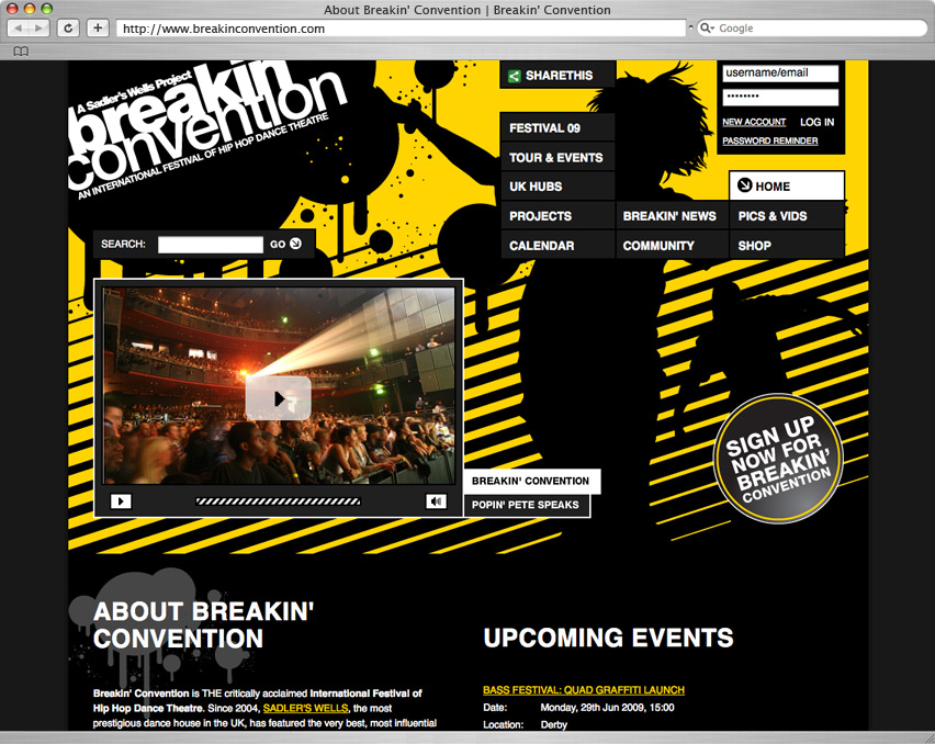Breakin' Convention homepage