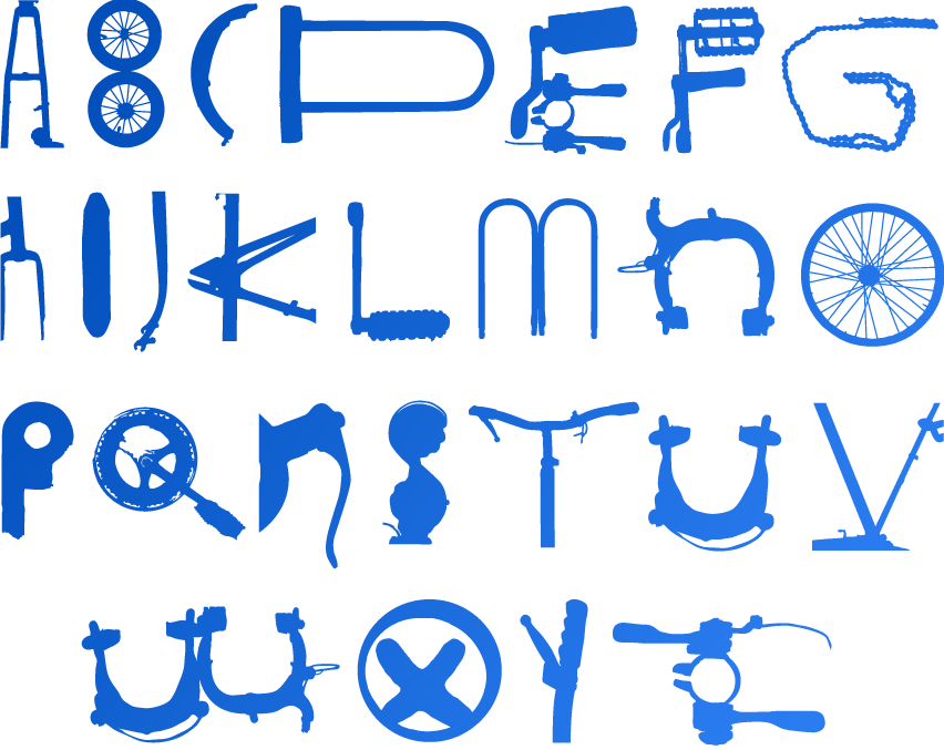 Bike Type Alphabet