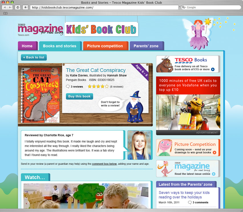 Kids Book Club detail page