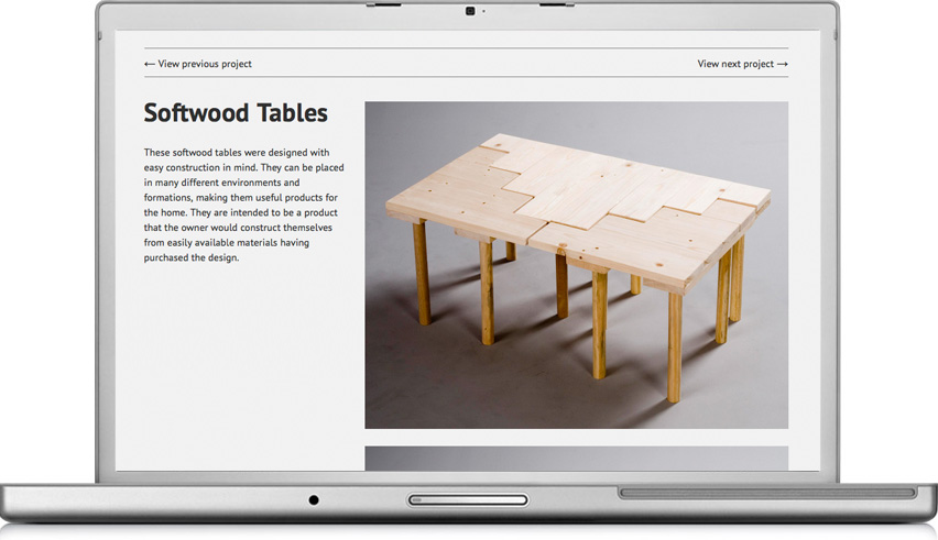 Dowsett Design Softwood Tables project