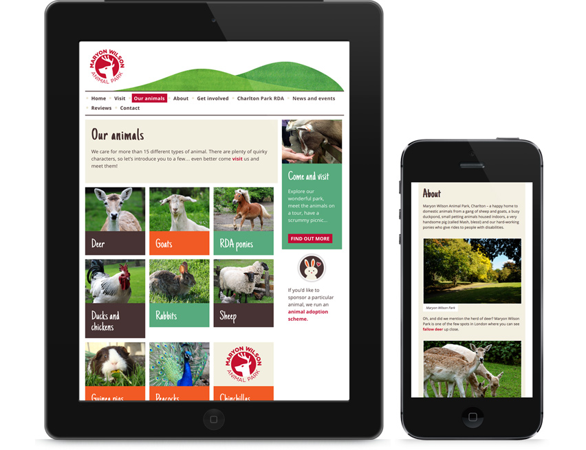 Maryon Wilson Animal Park mobile versions