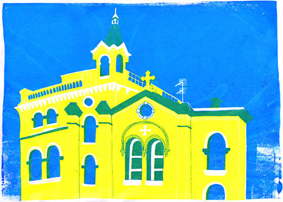 Church screenprint